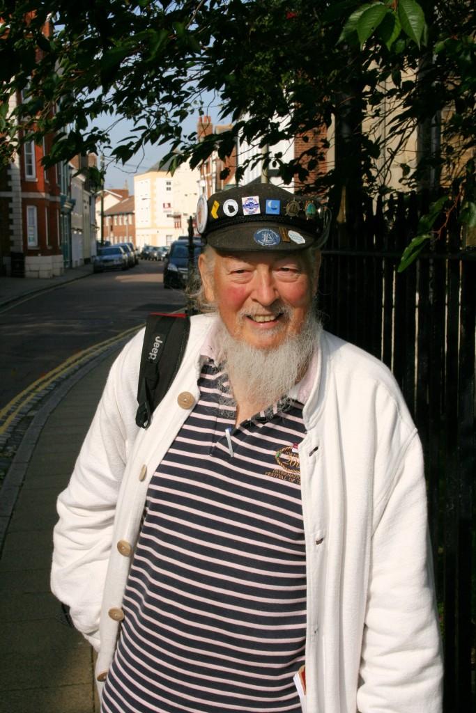 Alan Whitbread outside St Nicholas Church