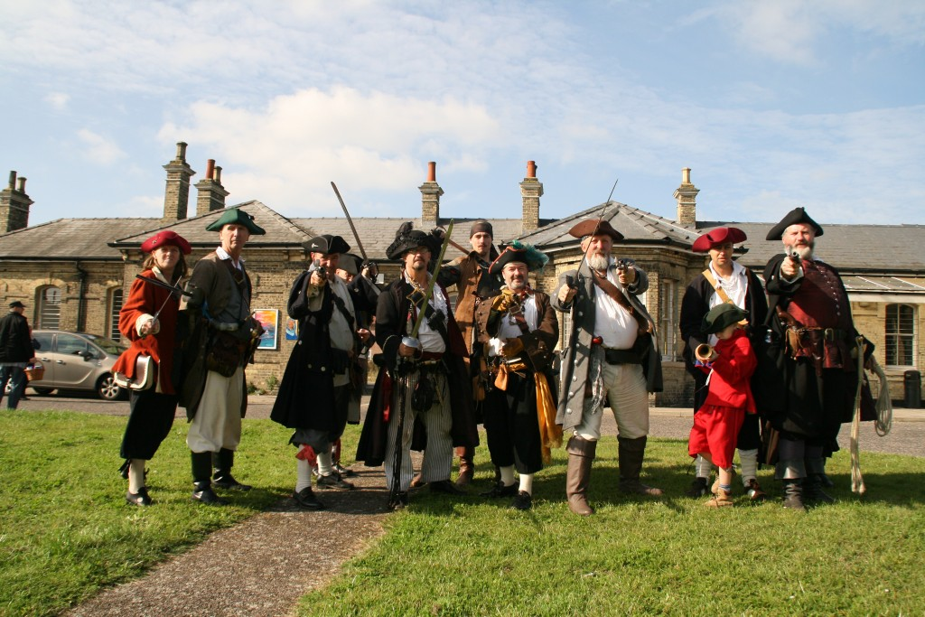 Pirates & River Rogues outside Harwich Town Station